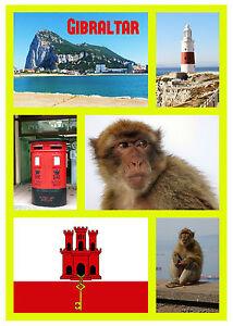 Gibilterra - Souvenir Novità Calamita Frigo - Bandiere / Viste - Nuovo - Regali