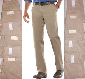 aaa9053094 SONOMA MEN'S STRAIGHT FIT FLAT FRONT TWILL PANTS KHAKI CHOOSE SIZE ...