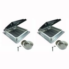 "2 Pack 14"" RV Camper Motorhome Trailer HENG'S 74111-C Roof Vent Kit w/Butyl Tape"
