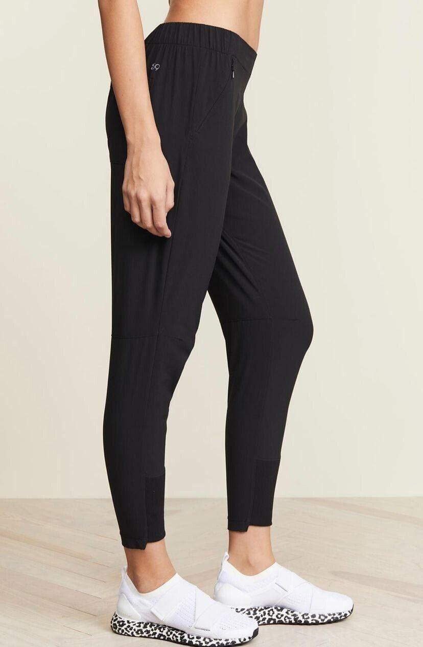 Revolve Split 59 Women's Cool Down Jogger Pants Black Size Small