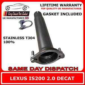 lexus is200 2.0 t304 100% stainless steel decat replacement pipe