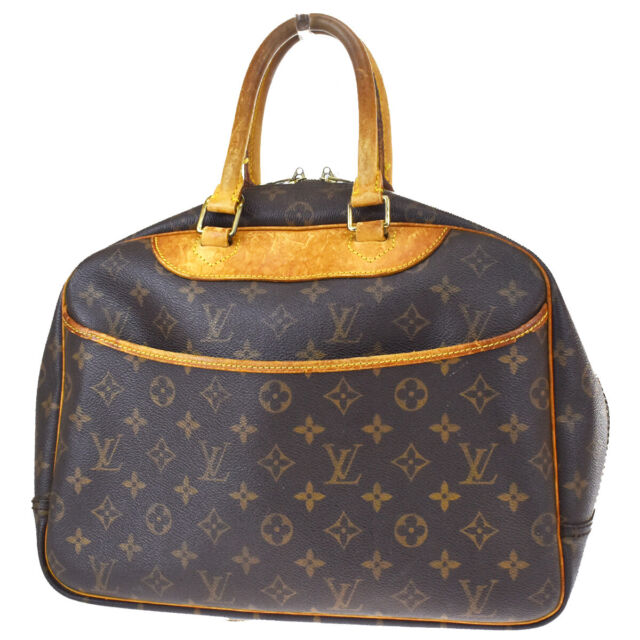 Auth LOUIS VUITTON Bowling Vanity Hand Bag Monogram Leather Brown M47270 64BQ595