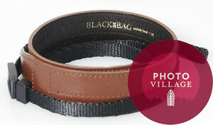 Black Label Bag Leather Wide Strap in Dark Brown for Canon, Leica, and Nikon