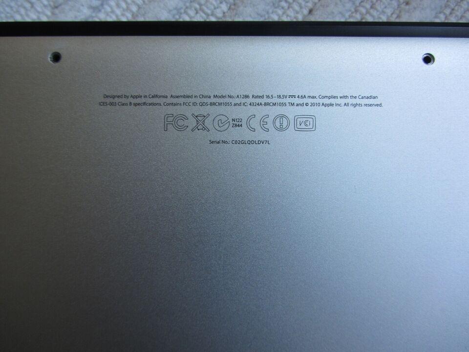 MacBook Pro, A1286, late 2011