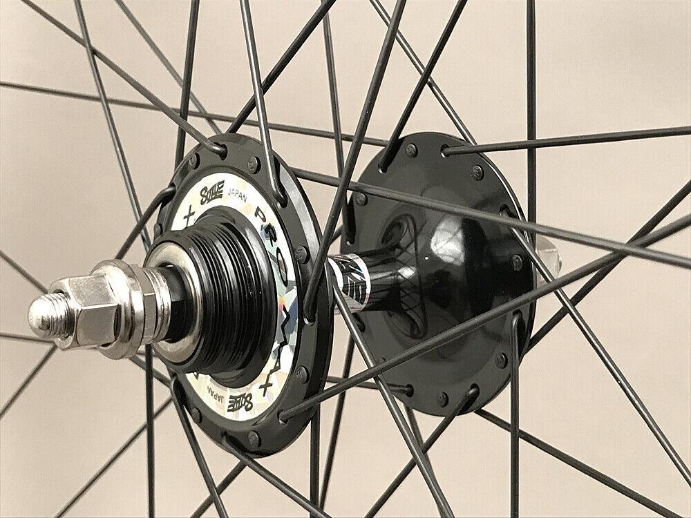 Image 10 - Velocity A23 Black Rims Suzue Hubs Single Speed Track Fixed Gear Bike Wheelset