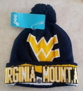 8529f4318cbe3 Image is loading WEST-VIRGINIA-MOUNTAINEERS-Youth-Hat-Ski-Cap-Cuffed-
