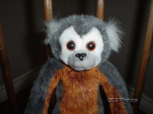 Russ Berrie Gaspard Monkey Plush 21073 Handmade 11 Inch