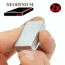 2 SUPER AIMANT MAGNET NEODYM neodynium 80KG 40x20x5mm N52 PUISSANT RECTANGLE