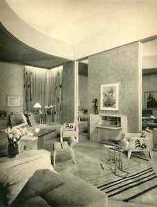 Details zu WOHNZIMMER in ART DECO - Entwurf Mme Lucie RENAUDOT -  OriginalHeliotypie 1930