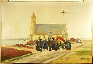 Grosses Soldes Notre Dame De La Joie Saint-guénolé Penmarc'h Bretagne Peinture S Dechaudat 1948 Produits De Qualité Selon La Qualité