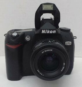 nikon d70 digital slr camera with nikon 35 70mm lens | ebay