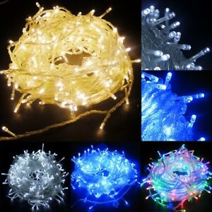 200-300-400-600-LED-Electric-Powered-Light-Outdoor-Christmas-Fairy-String-Lights