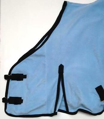 "FAST P&P SALE!! High Quality Fleece Cooler Travel Rug BabyBlue  6'3"""