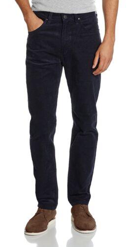 Lee DAREN ZIP REGULAR FIT SLIM blu e corde in Velluto a Coste Jeans Stretch Pantaloni