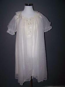 fc744fe5cd Image is loading Sheer-Chiffon-Babydoll-Peignoir-Nightgown-Negligee-Set-Robe -