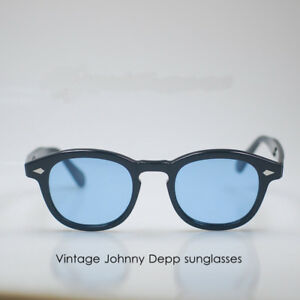 49553c81f8a Image is loading Retro-italy-Acetate-Johnny-Depp-sunglasses-mens-hipster-