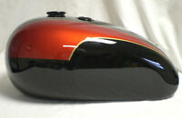 NEW TRIUMPH T140 BLACK AND RED PAINTED OIL IN FRAME GAS PETROL TANK