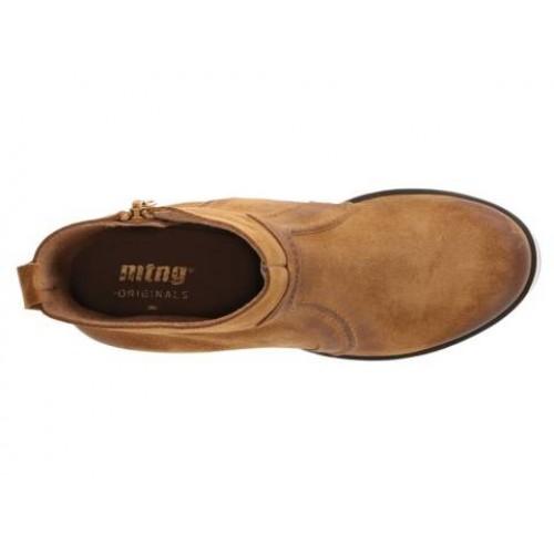 MTNG Kala Ankle Platform Boot Bootie NIB Platform Ankle Suede Leder Tan Braun 40/9-9.5 Spain cda90c