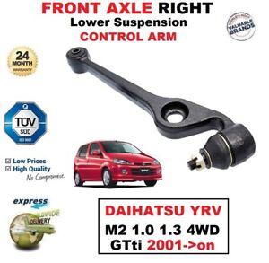 FRONT AXLE RIGHT Lower CONTROL ARM for DAIHATSU YRV M2 1.0 1.3 4WD GTti 2001->on