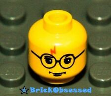 LEGO Yellow Harry Potter Minifig Head Glasses Lightning Bolt 4708 4709 4730 NEW!