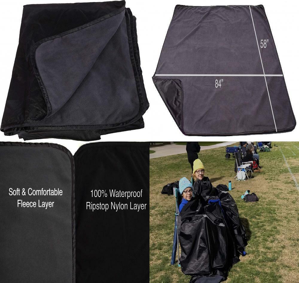 Oak Mountain Outdoor Gear Premium XL Manta de Estadio, resistente al agua y gris