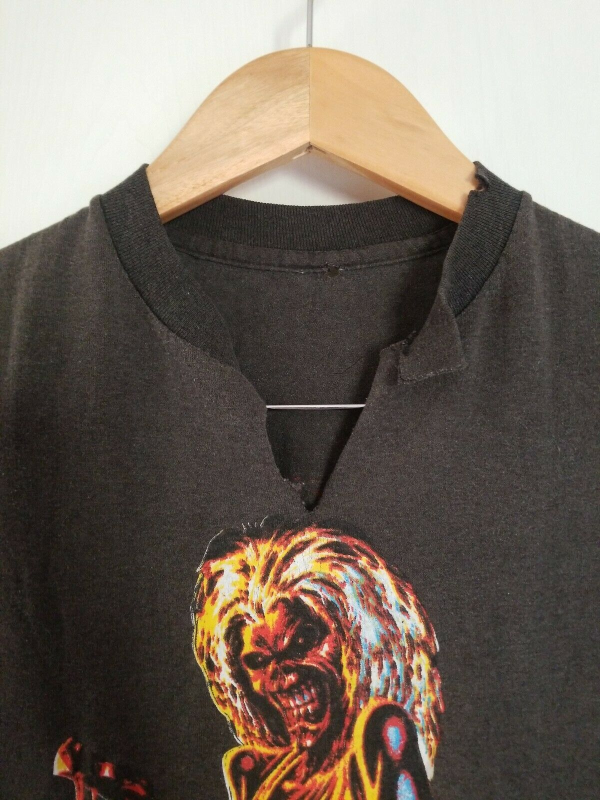 Vintage 80s Iron Maiden Small T-shirt Killers Wor… - image 2