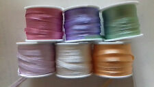 30 Metres 4mm Pure Silk Ribbon ASSORTED Colours Embroidery Miniatures