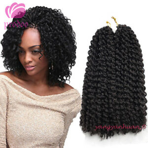 2Pcs-set-12-034-Mali-Bob-Curly-Hair-Synthetic-Crochet-Braiding-Hair-Extension-Black