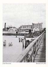 """+PC-Postcard-""""John Sherman"""" /Passenger Steamer/  *Bay County, MI. (A320)"""