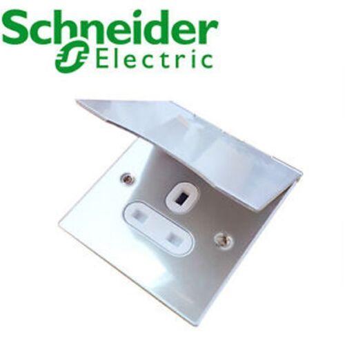 Schneider Ultimate Flat Plate 42544-000 1G Floor Socket Stainless Steel Electric