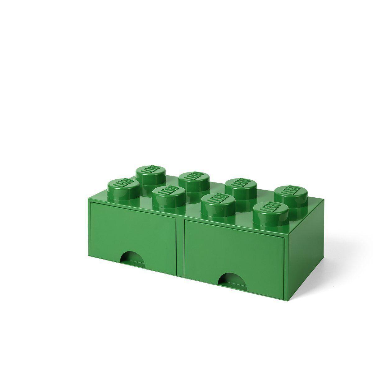 Lego 40061734. Ladrillo Lego Gigante Verde. Contenedor almacenaje con 2 cajones