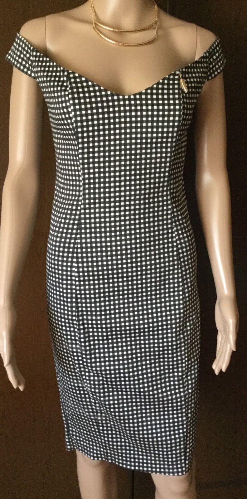 Relish Dress Donna nero colore, stretch cotton, Dimensione 42, lined Abito elegante