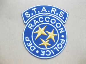 BLUE S.T.A.R.S. Raccoon Police Dep Resident Evil Patch 6.5x8