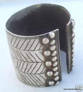 Image Is Loading Ancient Antique Ethnic Tribal Old Silver Cuff Bracelet