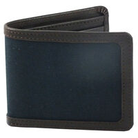 Daines And Hathaway Brown Leather And Navy Canvas Wallet (lc1936-brown-navy)