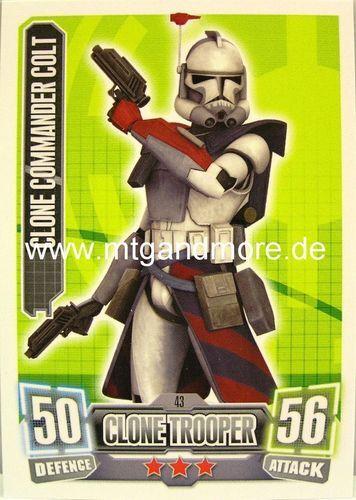 Clone Commander Colt #043 Force Attax Serie 2