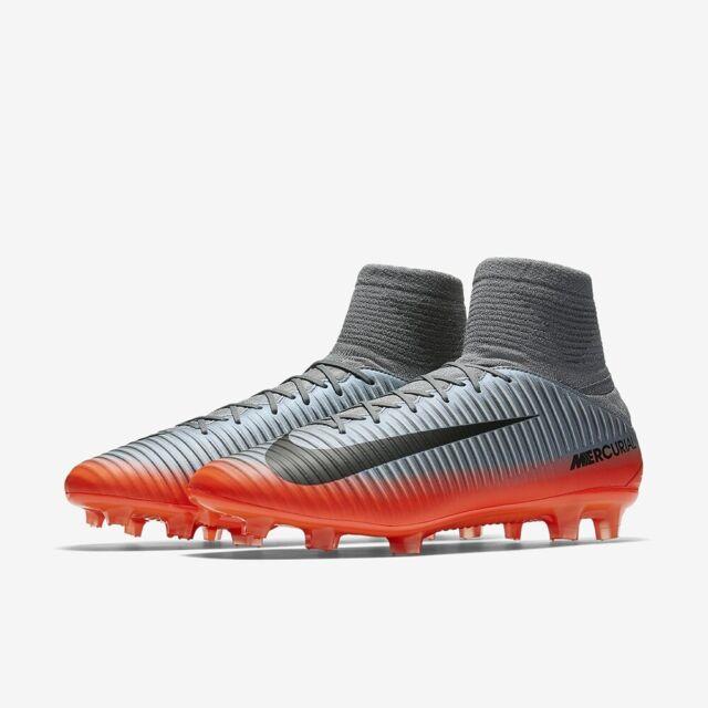 Men Nike Mercurial Veloce III DF CR7 FG Soccer Cleats Gray 852518 001 Size 11