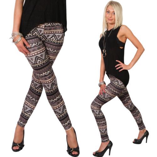 Leggings Hose Jeans-Look Aztec Norweger Etno Leggings Jeggings Jeansleggins Neu