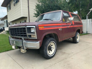 1980 Ford Bronco - rare Free Wheeling edition