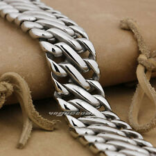 XXL Edelstahl  Armband  Schmuck Herren Männer Arm Biker 22cm 123Gramm