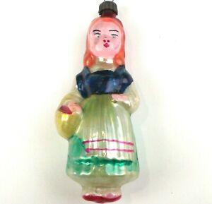 Selten-Antiker-Russen-Alter-Christbaumschmuck-Glas-Weihnachtsschmuck-Rotkaeppchen