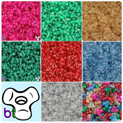 600pcs Color choice BeadTin Neon Bright 11mm TriBead Craft Beads