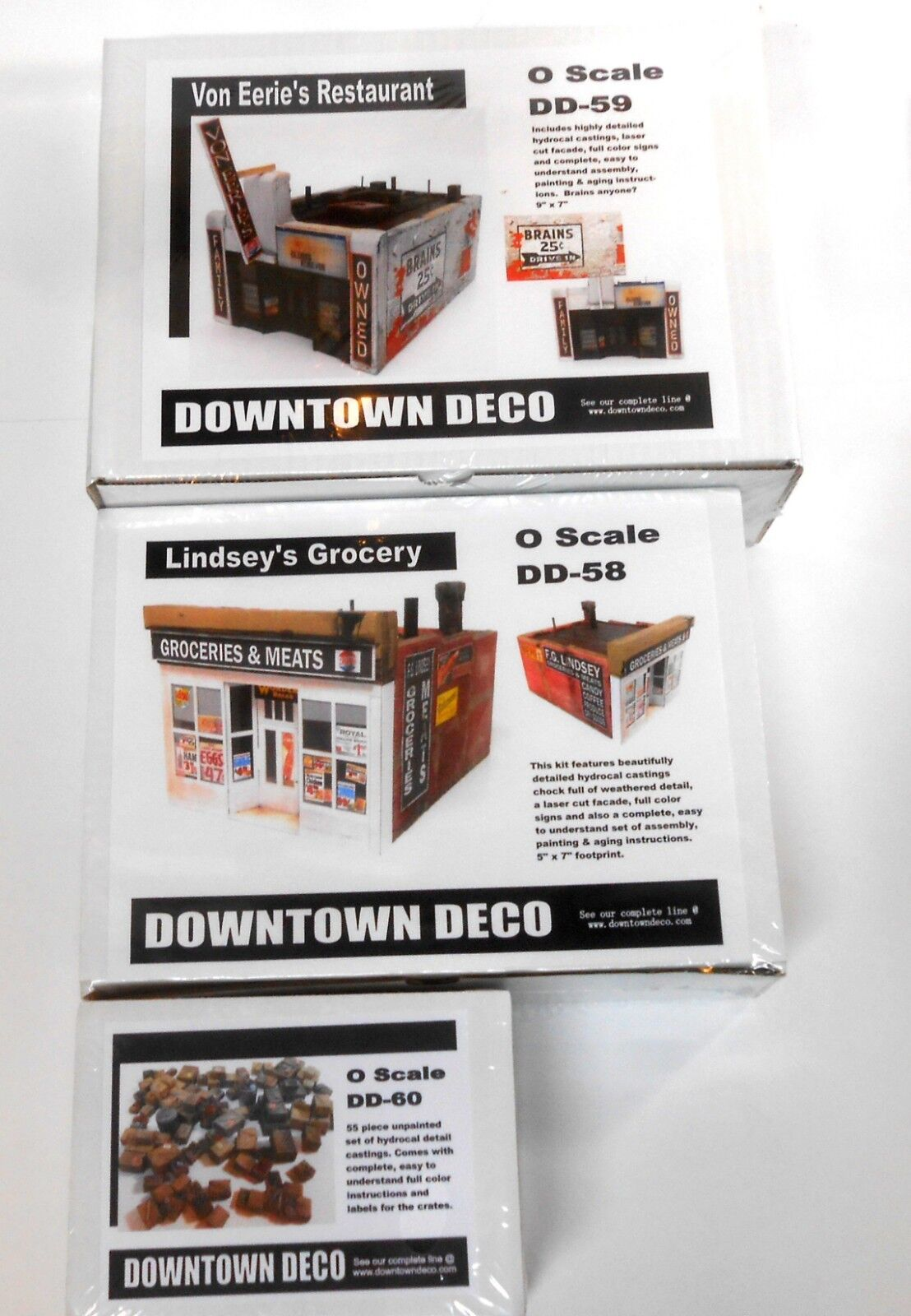 Downtown Deco O On30 Scale Building Lindsey's Von Eeries 2 kits + 2 Bonuses