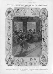 1906-Antique-Print-LONDON-DALY-039-S-THEATRE-Comic-Opera-Merveilleuses-Sardou-214
