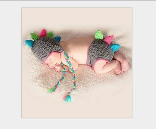New baby Creative dinosaur suit Newborn Knit Crochet Clothes Photo Prop outfit