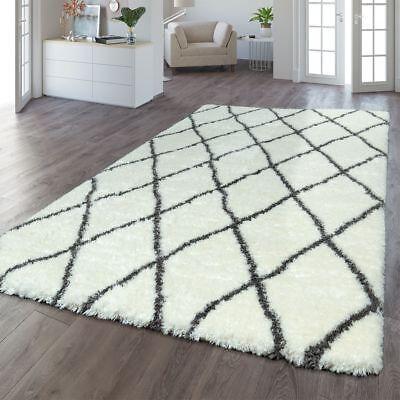 Modern Rug Shaggy Carpet Diamonds Long