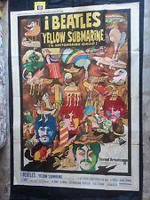 IL SOTTOMARINO GIALLO ( YELLOW SUBMARINE)  MANIFESTO 4 FOGLI, 1° EDIZIONE 1968.