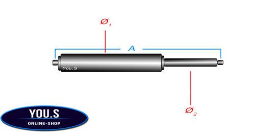 2 x YOU-S Original Gasfedern für BMW X1 E84 Heckklappe 51242990136