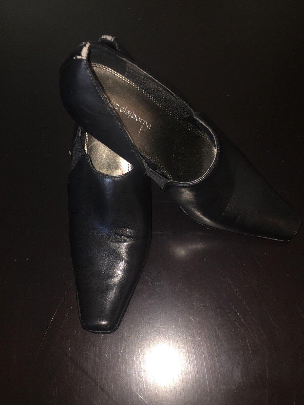 Liz Claiborne Black US Shoe Boot Block Pumps  Slip On Shoes US Black Size 9 M 78e0a1