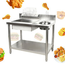 Breading Table Fried Food Prep Breader Station Fry Chicken Amp Fish New Design